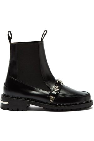 Toga Virilis Metal-strap Leather Chelsea Boots - Mens