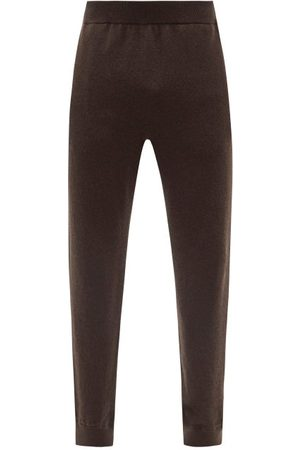 The Row Olivier Elasticated-waist Knitted Track Pants - Mens - Dark
