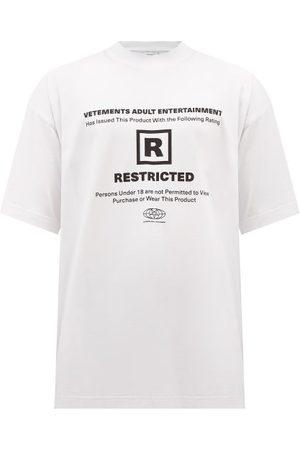 Vetements Men T-shirts - 18+ Print Cotton-jersey T-shirt - Mens