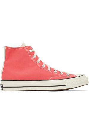 Converse Men Sneakers - Pink & Yellow Chuck 70 Hi Sneakers