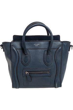 Céline Céline Navy Leather Nano Luggage Tote