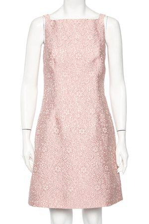 Dolce & Gabbana Floral Embossed Jacquard Sleeveless Mini Dress S