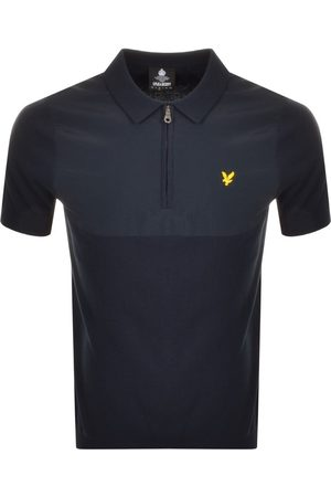 Lyle & Scott Knitted Polo T Shirt Navy