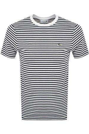 Lacoste Crew Neck Striped T Shirt Navy