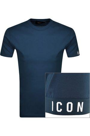 Dsquared2 Logo Sleeve T Shirt Navy