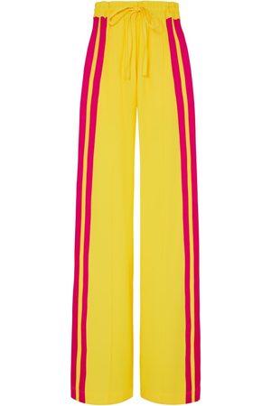 SERENA BUTE The Classic Wide Leg Jogger - Lemon Drop Yellow & Peacock Pink Viscose