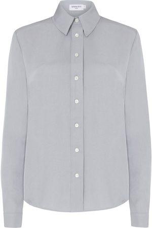 SERENA BUTE The New Serena Shirt - Grey Natural Fabric