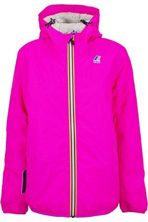 K-Way Fleece-Lined Hooded Jacket