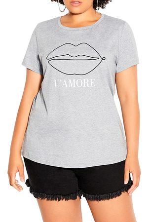 City Chic Women T-shirts - Plus Size Women's Kiss Me Graphic Tee