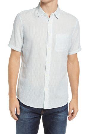 Faherty Men's Chill Regular Fit Stripe Organic Cotton Short Sleeve Button-Up Shirt