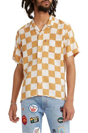 Levi's Men's Men's Cubano Check Print Short Sleeve Button-Up Camp Shirt