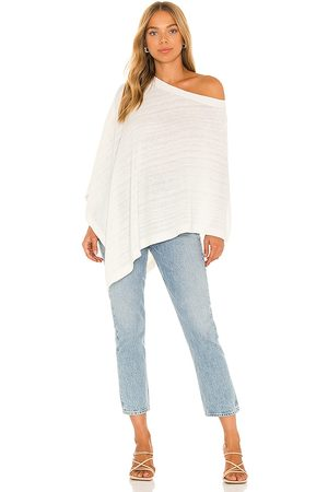 Lovers + Friends Granger Poncho in Ivory.