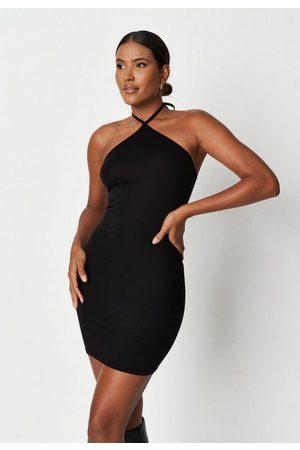 Missguided Halterneck Strappy Sleeveless Mini Dress