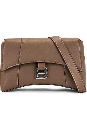 Balenciaga XS Soft Hourglass Shoulder Bag in Grey