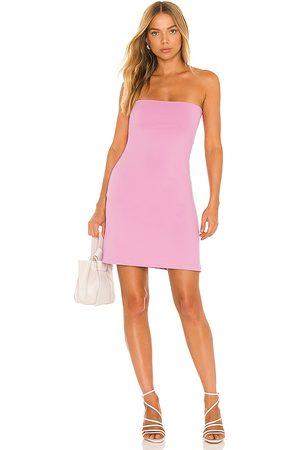 Susana Monaco Strapless Tube Mini Dress in Pink.