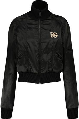 Dolce & Gabbana Satin cropped bomber jacket