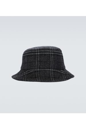 Burberry Wool and cashmere checked bucket hat