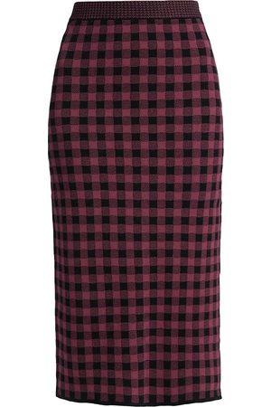 Altuzarra Billie Gingham Pencil Skirt