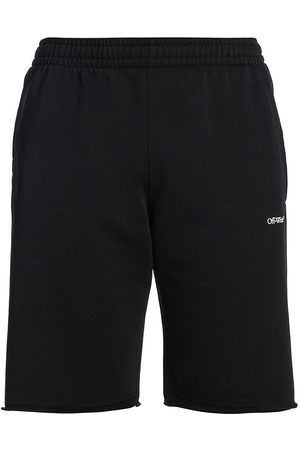 OFF-WHITE Torando Arrow Logo Cotton Jogger Shorts