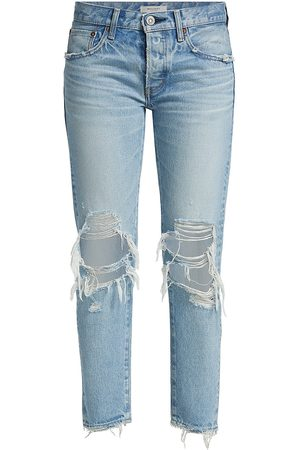 Moussy May Distressed Tapered Jeans