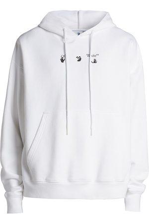 OFF-WHITE Arrow Paint Splat Logo Cotton Hoodie