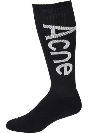 Acne Studios Ribbed Logo Socks