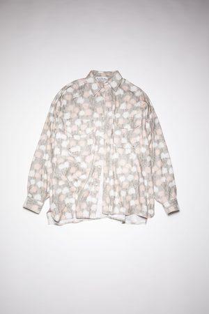 Acne Studios Men Casual - FN-MN-SHIR000445 Floral flannel shirt
