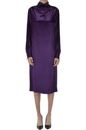 DRIES VAN NOTEN Satin tunic dress