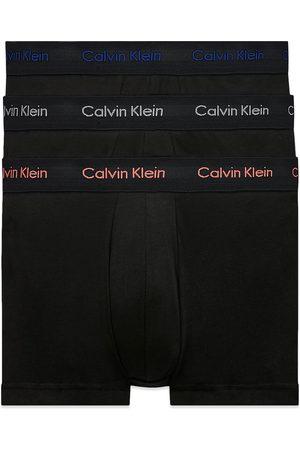 Calvin Klein Low Rise Cotton Stretch Trunks - Black /Grey/Coral