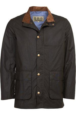 Barbour Men Outdoor Jackets - Adderton Wax Jacket Olive