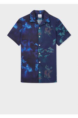 Paul Smith Jasmine Sun Print Shirt M, Colour: Navy