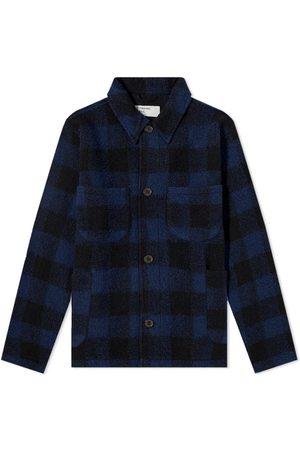 Universal Works Check Wool Fleece Lumber Jacket