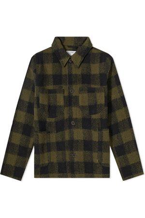 Universal Works Men Fleece Jackets - Check Wool Fleece Lumber Jacket