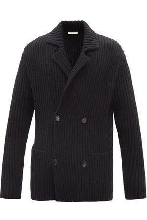 The Row Delfino Double-breasted Ribbed-knit Cardigan - Mens