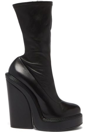 Givenchy Block-heel Leather Ankle Boots - Womens