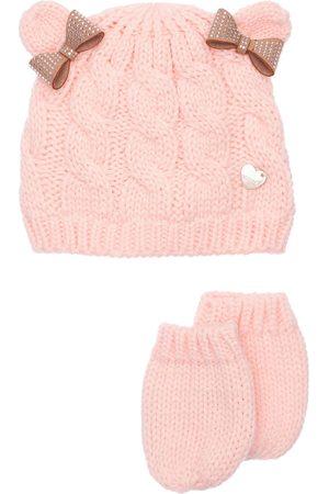 MONNALISA Cotton Blend Hat & Gloves