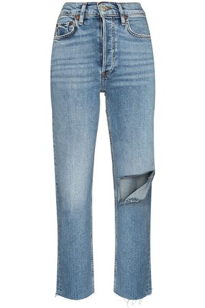 RE/DONE Women High Waisted - Stove Pipe high-waisted jeans