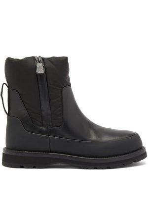 Moncler Women Rain Boots - Leather And Nylon Rain Boots - Womens