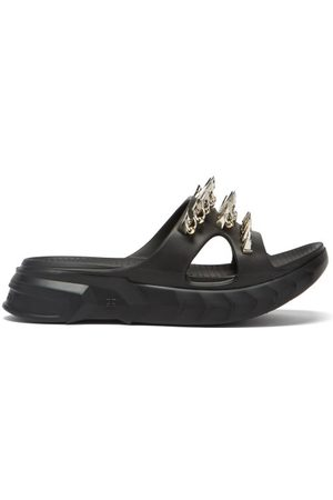 Givenchy Marshmallow Spike-embellished Cutout Slides - Womens