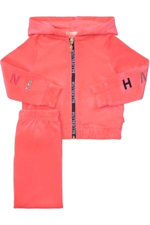 Billieblush Velvet Sweatshirt Hoodie & Sweatpants