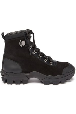 Moncler Helis Suede And Leather Hiking Boots - Womens