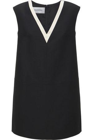 VALENTINO Wool & Silk Crepe Couture Mini Dress
