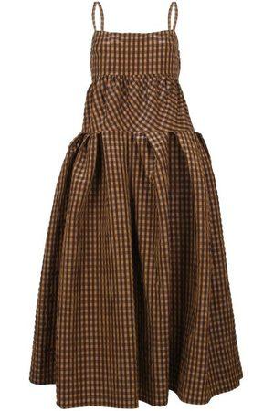REJINA PYO Casey Gingham Seersucker Midi Dress - Womens - Multi