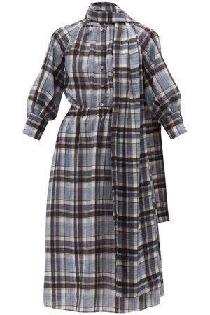 Altuzarra Julyan Check-hessian Midi Shirt Dress - Womens
