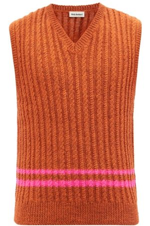 Molly Goddard Ralph Cable-knit Wool Sweater Vest - Mens