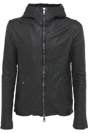 GIORGIO BRATO Hooded Leather Zip Jacket