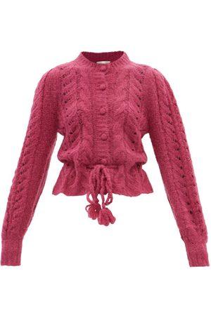 LOVESHACKFANCY Girard Lace-knitted Alpaca-blend Cardigan - Womens
