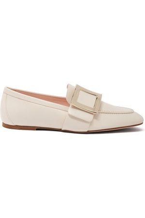 Roger Vivier Buckle-embellished Leather Loafers - Womens