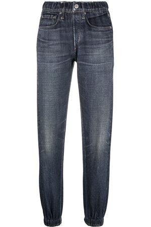 RAG&BONE Women High Waisted - High-rise tapered-leg jeans