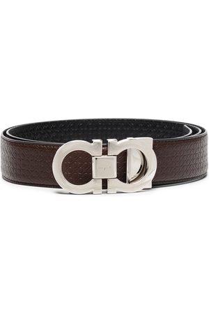 Salvatore Ferragamo Men Belts - Gancini reversible belt